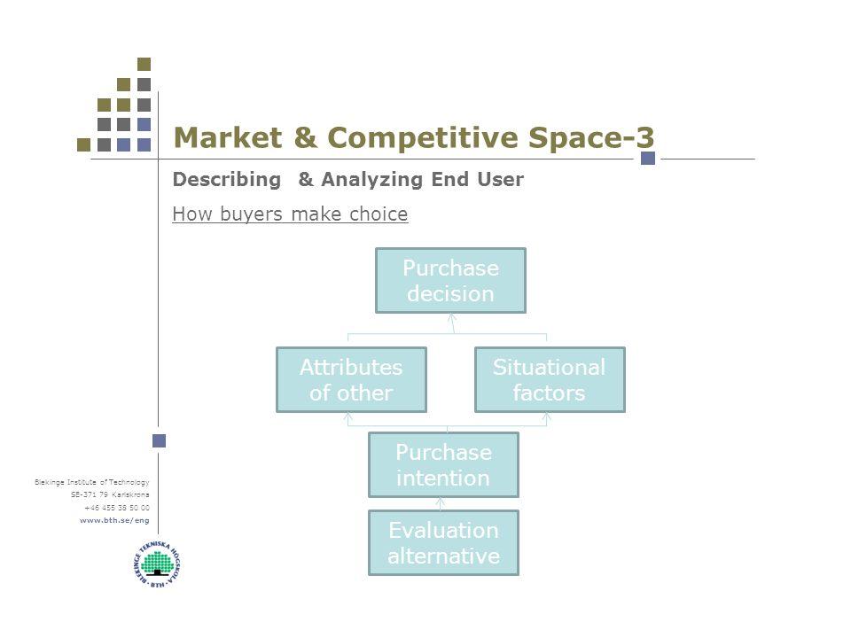 Blekinge Institute Of Technology SE Karlskrona Market Competitive Space 3 Describing Analyzing End