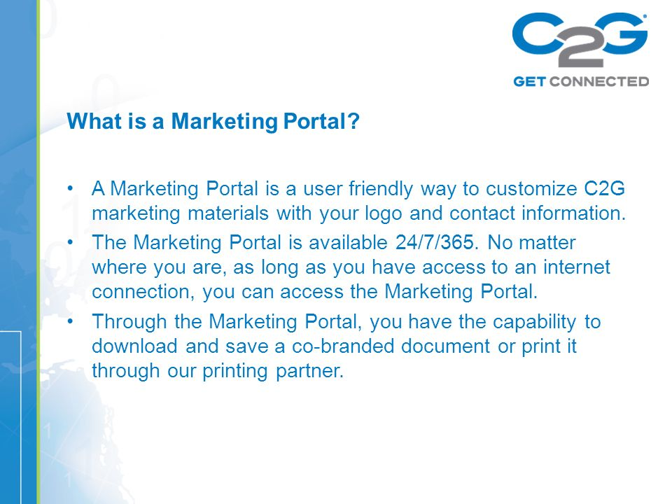 What is a Marketing Portal.
