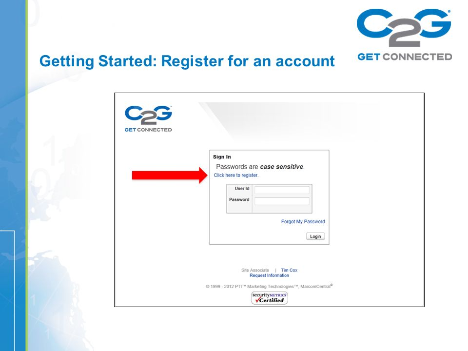 Getting Started: Register for an account