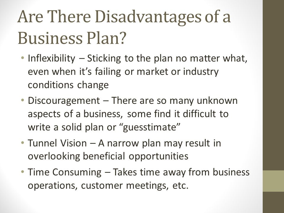 some business plans