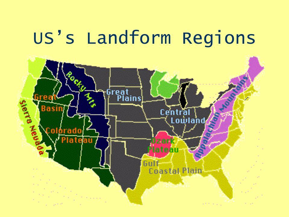 Us Landform Regions Map Landform Regions in North America Ms. Drifmeyer Human Geography