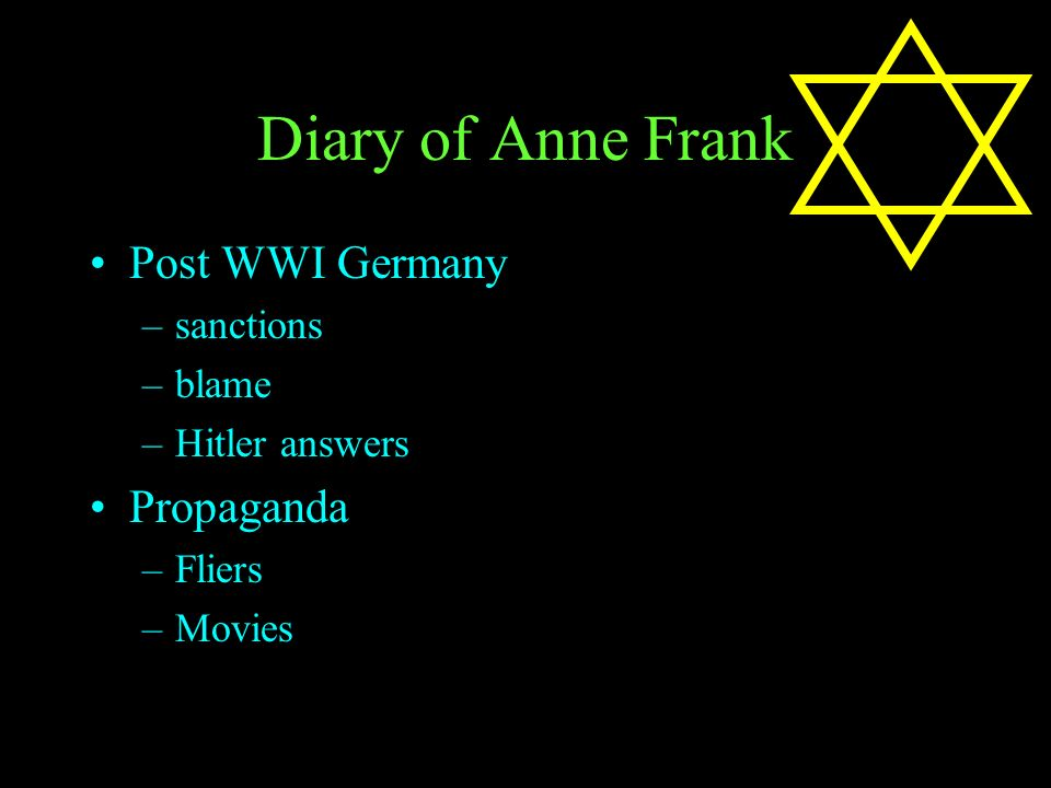 Diary Of Anne Frank Discussion Notes For Introduction Ppt Download
