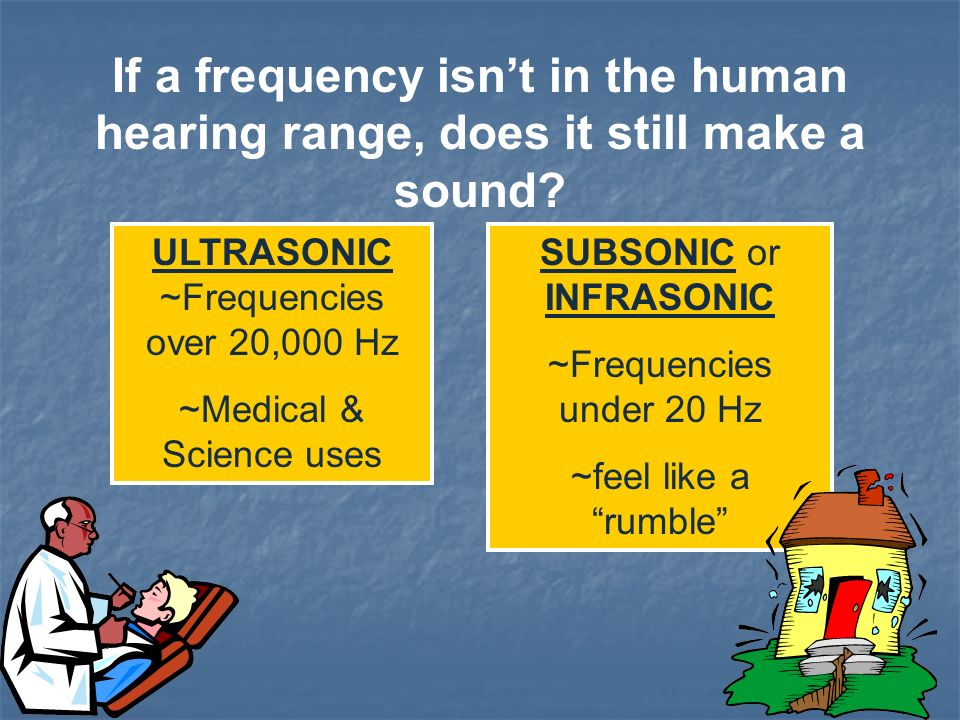 Human ears hear frequencies from 20 to 20,000 Hz What does this mean for wavelength