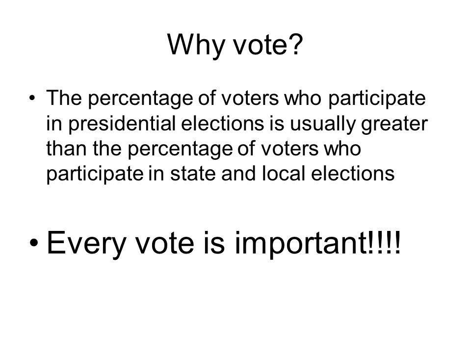 Why Citizens Fail to Vote Lack of Interest (voter apathy) Failure to register