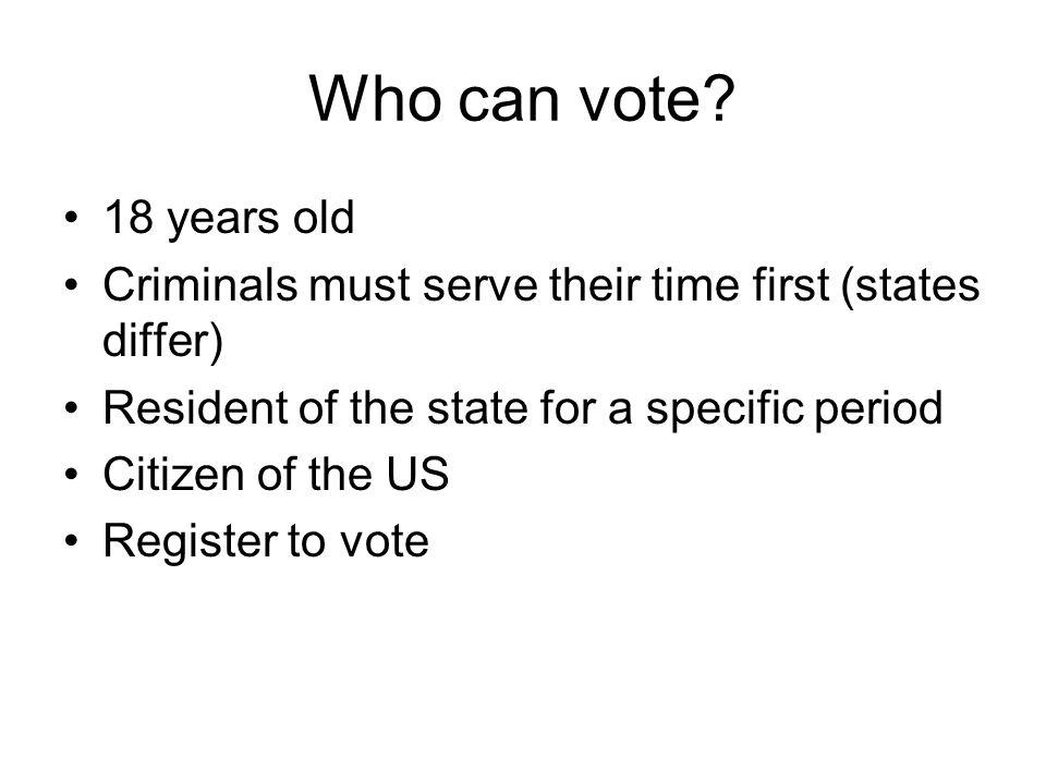 Who can vote.