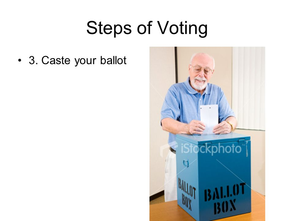 Steps of Voting 3. Caste your ballot