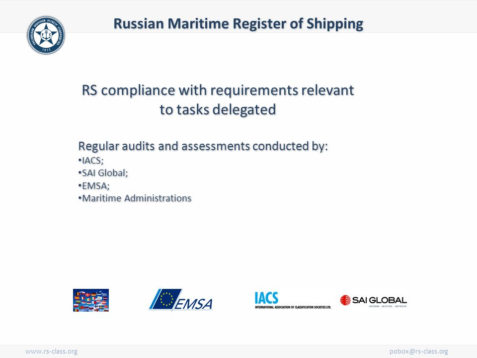 Russian Maritime Register of Shipping  Established in 1913, Russian