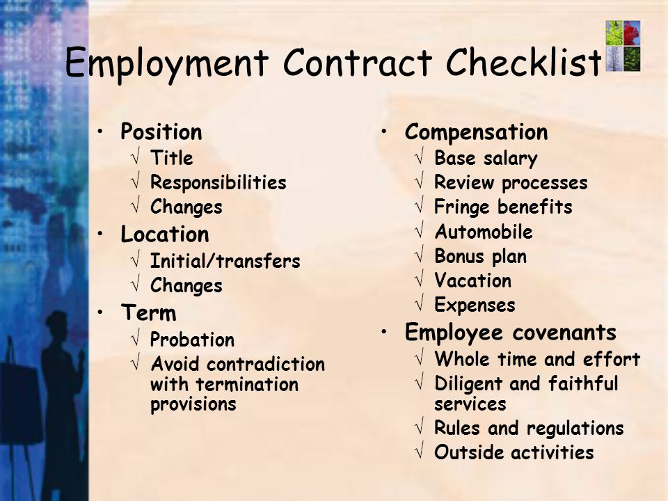 Ways To Protect Yourself Written Employment Contracts Termination