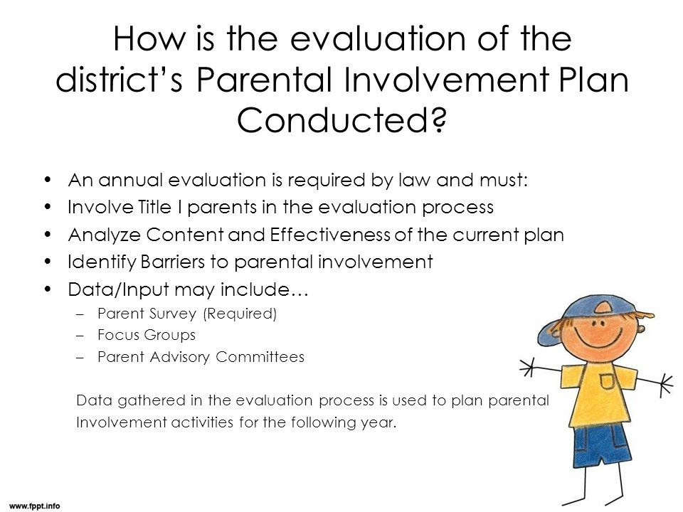 How is the evaluation of the district's Parental Involvement Plan Conducted.