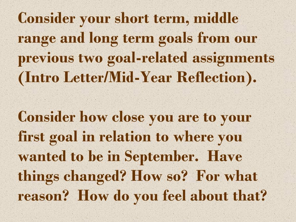 Letter to your future Self Unlike most year end writing pieces