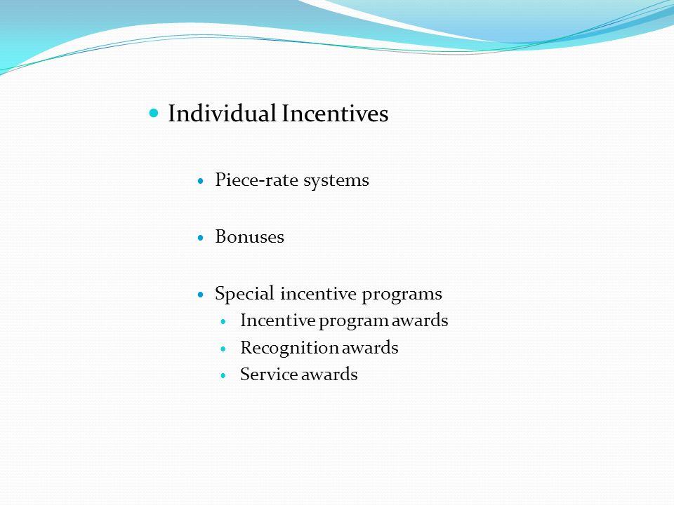 compensation objectives examples
