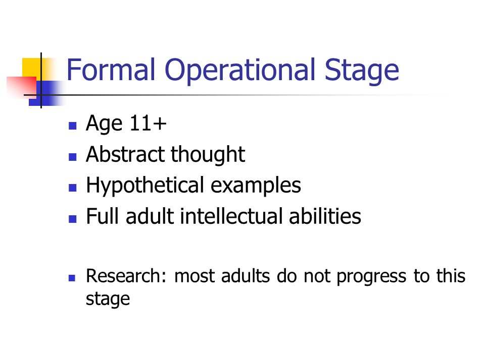 formal operational examples