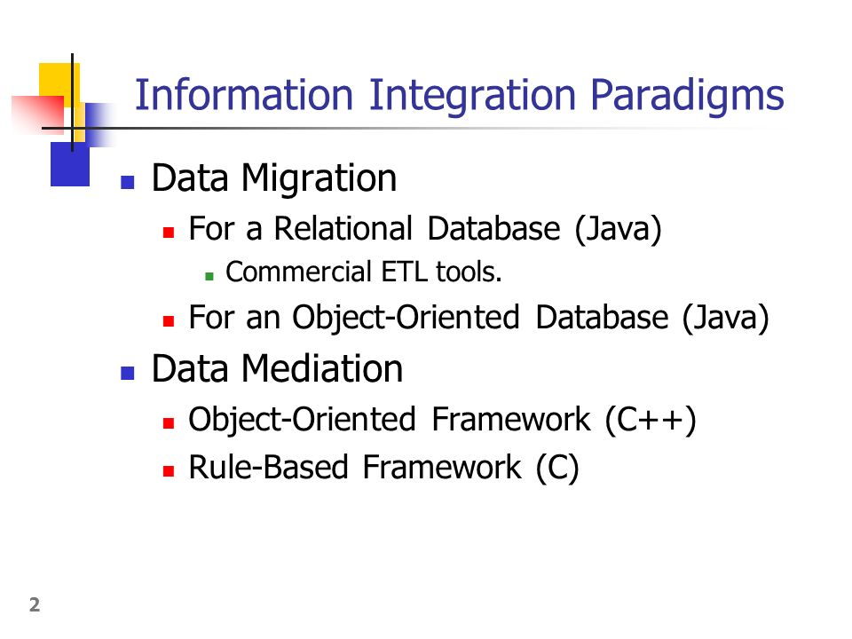 Object-Oriented Frameworks for Migrating Structured Data