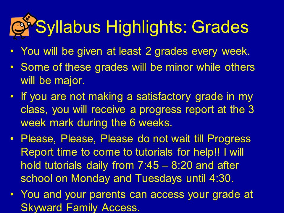 Syllabus Highlights: Outside Reading You will be expected to read novels, non- fiction, fiction, poetry, or essays outside of class throughout the year.