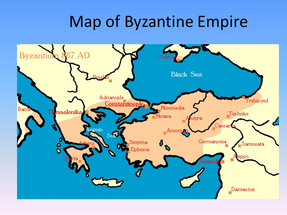 Byzantium The Eastern Roman Empire Continues Map Of Byzantine