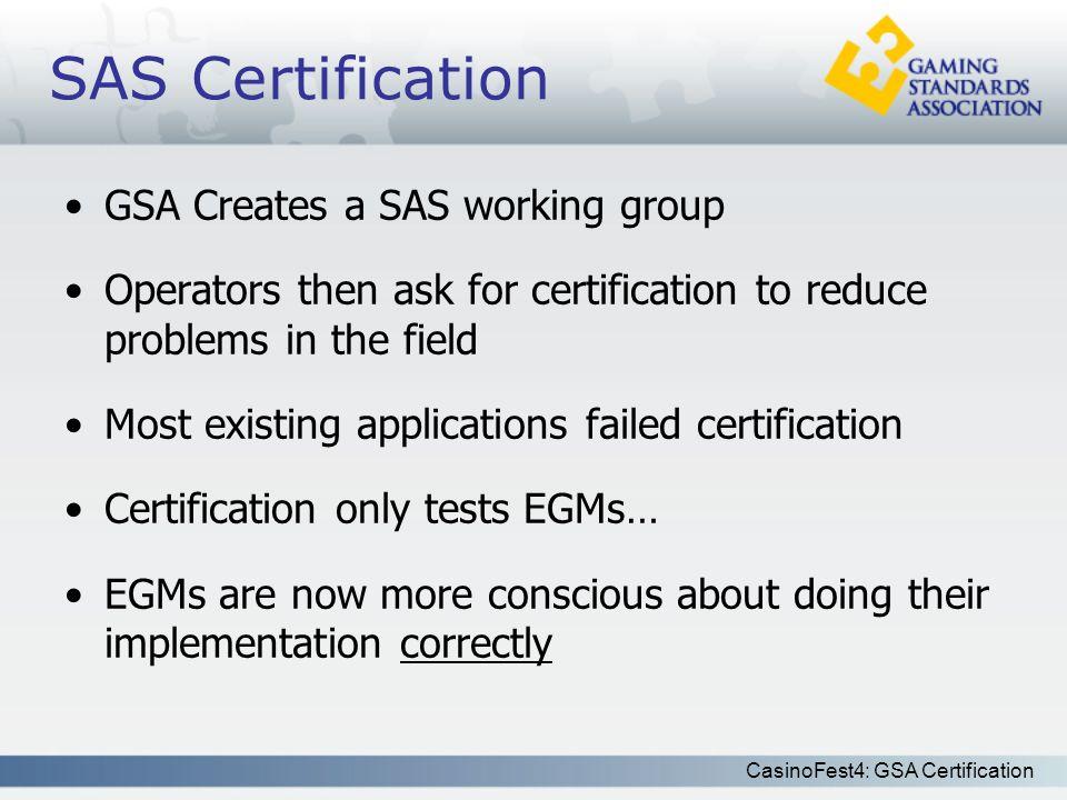 Casinofest4 Gsa Certification Gsa Certification How Does It