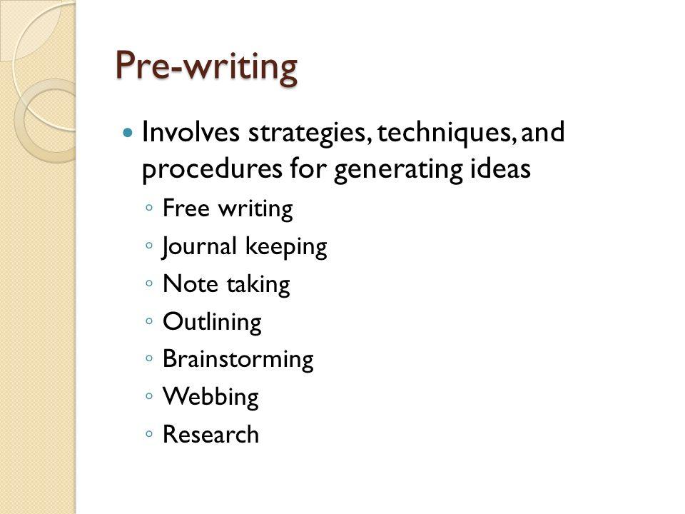 pre writing techniques