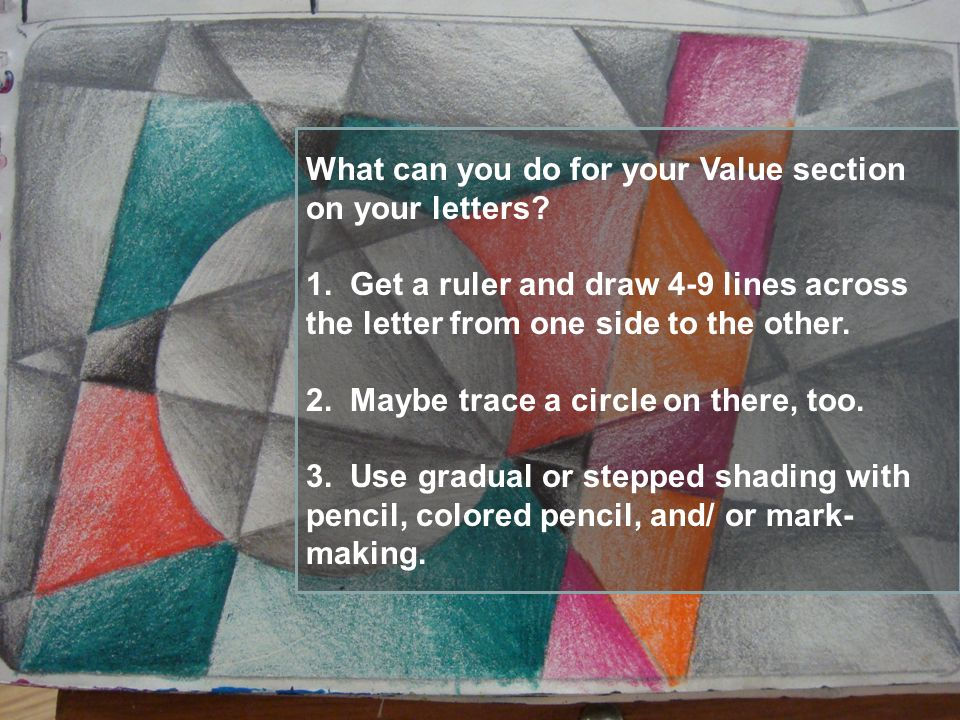 What can you do for your Value section on your letters.