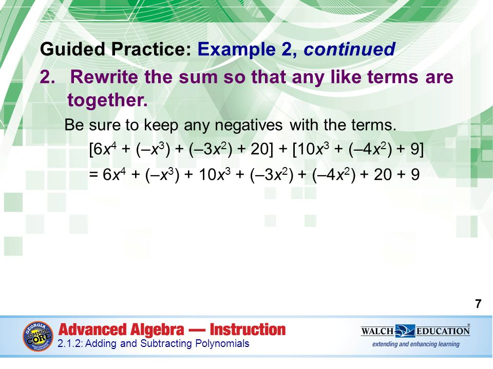 Introduction Polynomials, or expressions that contain ...
