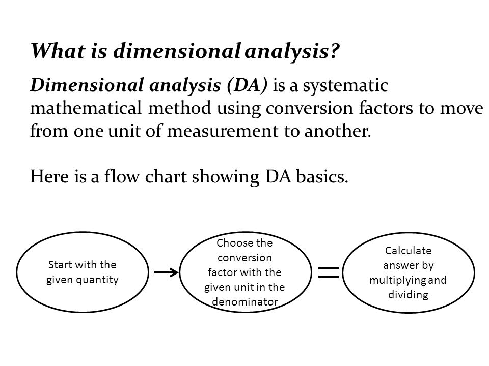 Unit Conversion Using Dimensional Analysis Objective N Q 1 Use