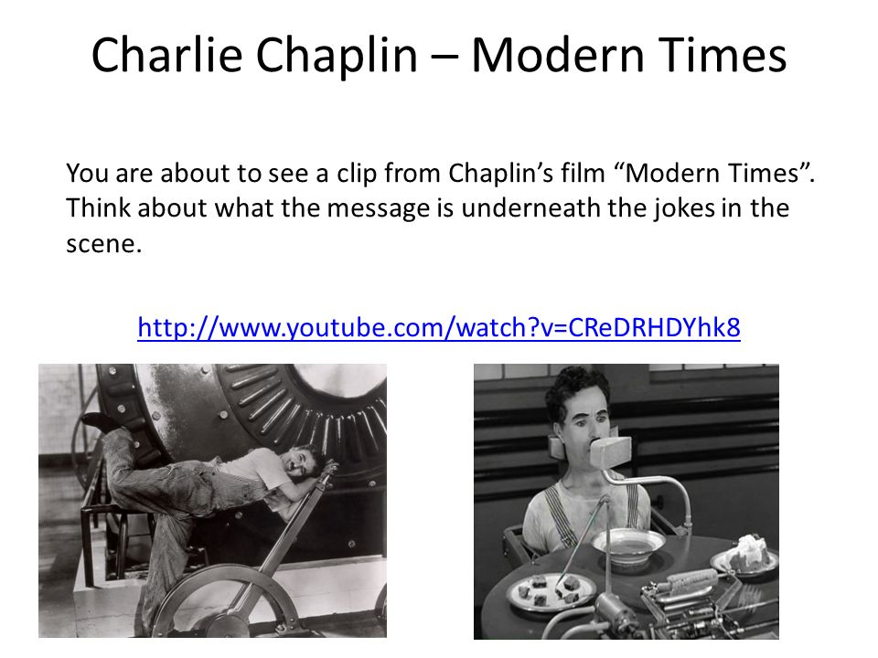 a comparison between charlie chaplins film modern times and walter benjamins essay the flaneur Andrew,2011,opening bazin-postwar film theory  be the undisputed father of modern film studies7  or manner of writing in his landmark essay on film.