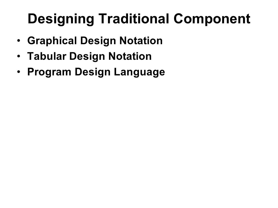 Ch 10 Component Level Design Unit 4 What Is Component A Component Is A Modular Building Block For Computer Software Because Components Reside Within Ppt Download