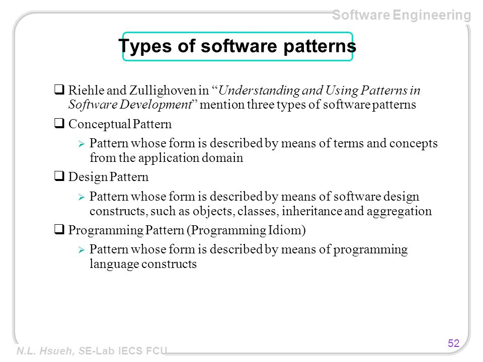 Software Engineering 1 N L Hsueh Se Lab Iecs Fcu Software Architecture N L Hsueh Ppt Download