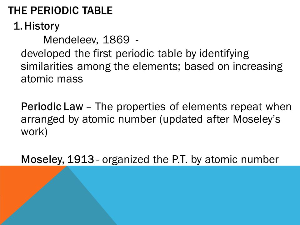 Chapter 2 ap chem 22 review 1omic number mass number atomic 17 the periodic table 1history mendeleev urtaz Images