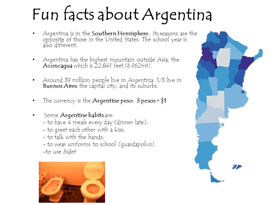 Where is Argentina? Argentina is located in South America