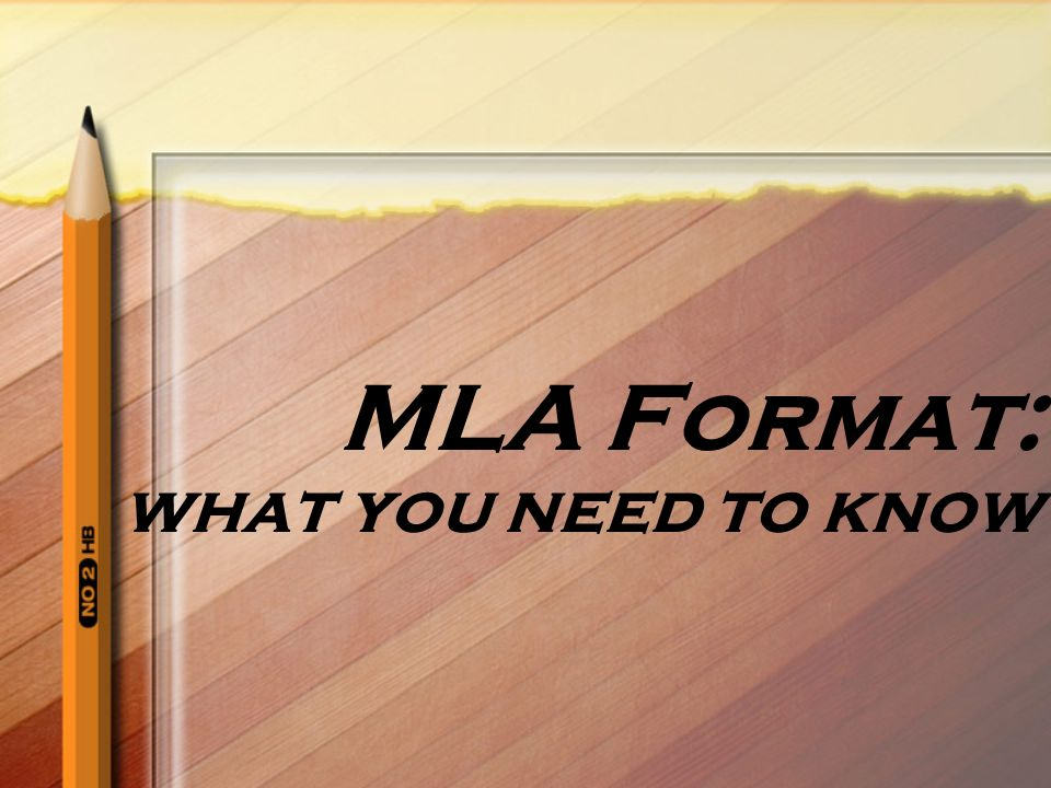 MLA Format: what you need to know