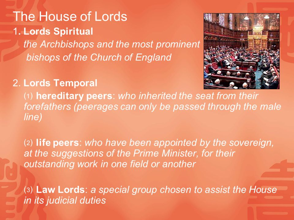 The House of Lords 1.