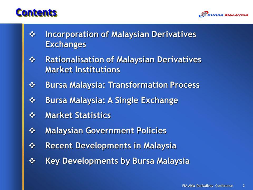 malaysia derivatives exchange mdex