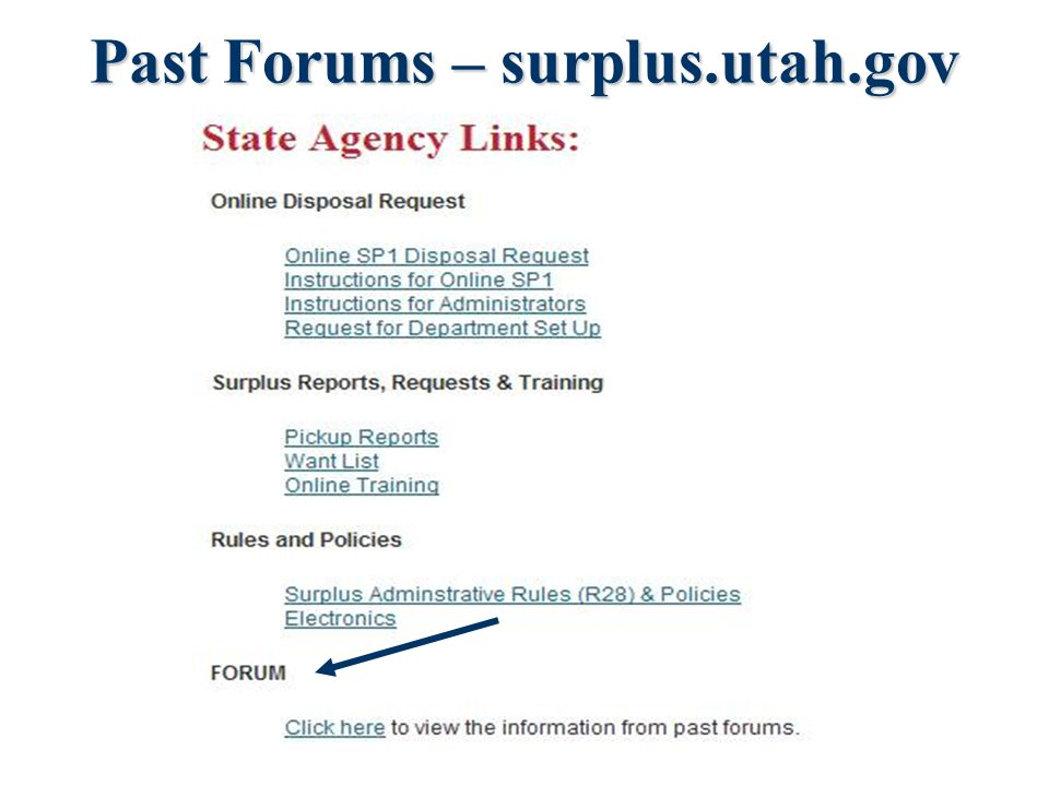 Agenda Updates New DAS Website Surplus Guidelines Getting
