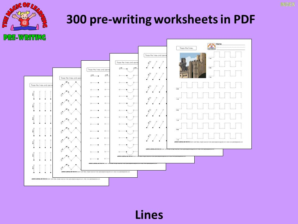 300 pre-writing worksheets in PDF 60 slides in English and ...