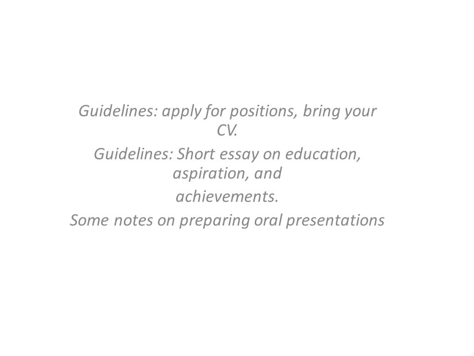 Guidelines Apply For Positions Bring Your Cv Guidelines Short   Guidelines Apply For Positions Bring Your Cv Guidelines Short Essay  On Education Aspiration  Personal Essay Examples For High School also The Yellow Wallpaper Essays  College Essay Thesis