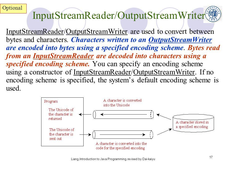 Liang,Introduction to Java Programming,revised by Dai-kaiyu