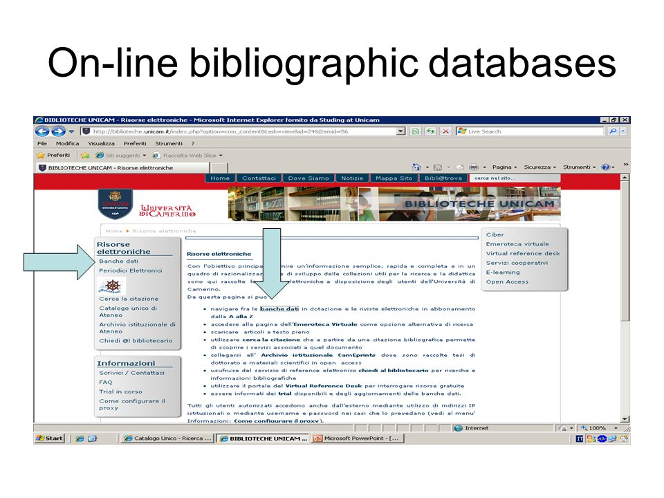 bibliographic research at unicam 22° june 2010 cristina soave - ppt download  slideplayer