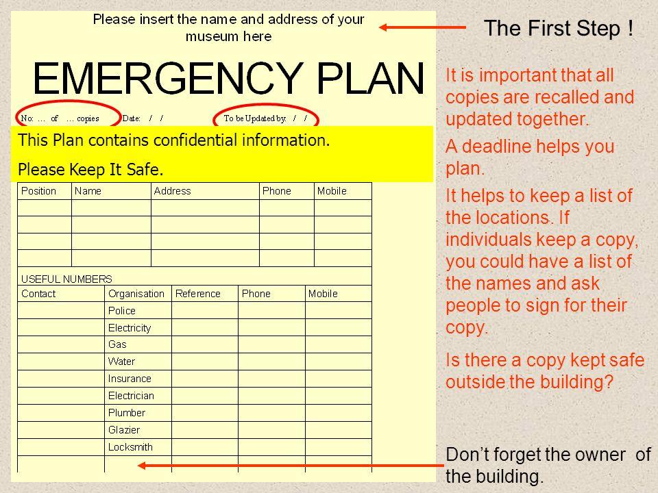 The emergency plan template produced by helena jaeschke 2 the maxwellsz
