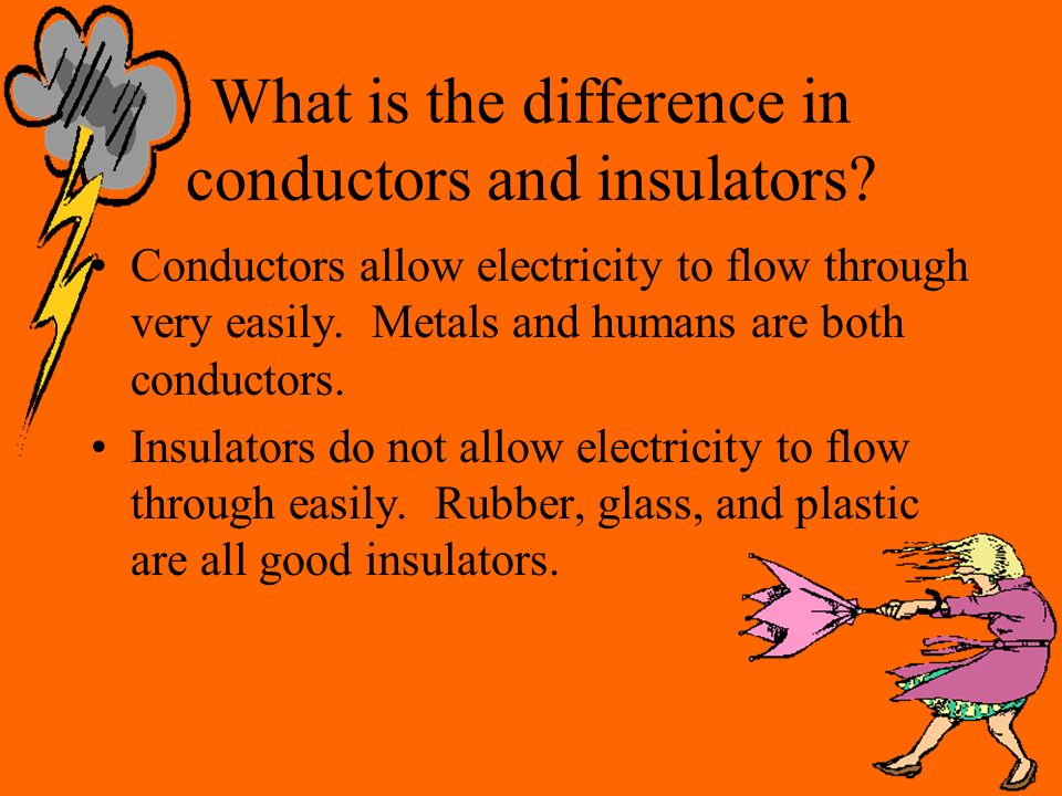 What is the difference in conductors and insulators.