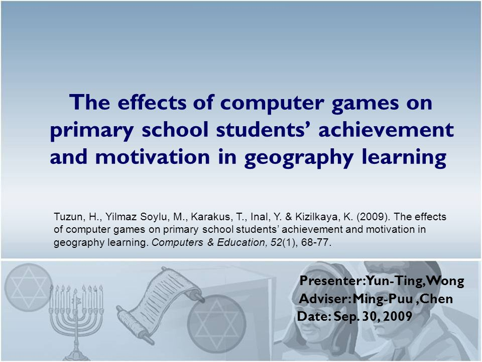 The effects of computer games on primary school students ...