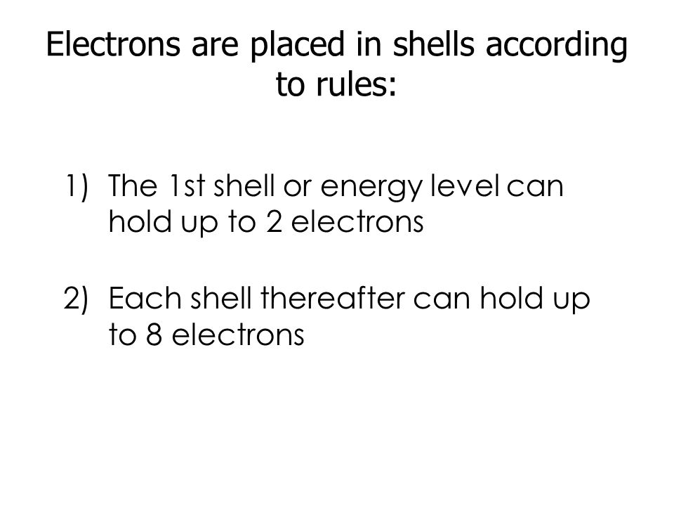 ELECTRON SHELLS (OR ENERGY LEVELS) a)Atomic number = number of protons Number of Protons = number of Electrons b)Electrons are found at different energy levels or electron shells.