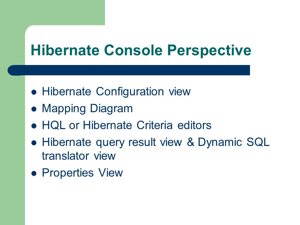 Seminar on  Overview Hibernate  What is it? Hibernate  How