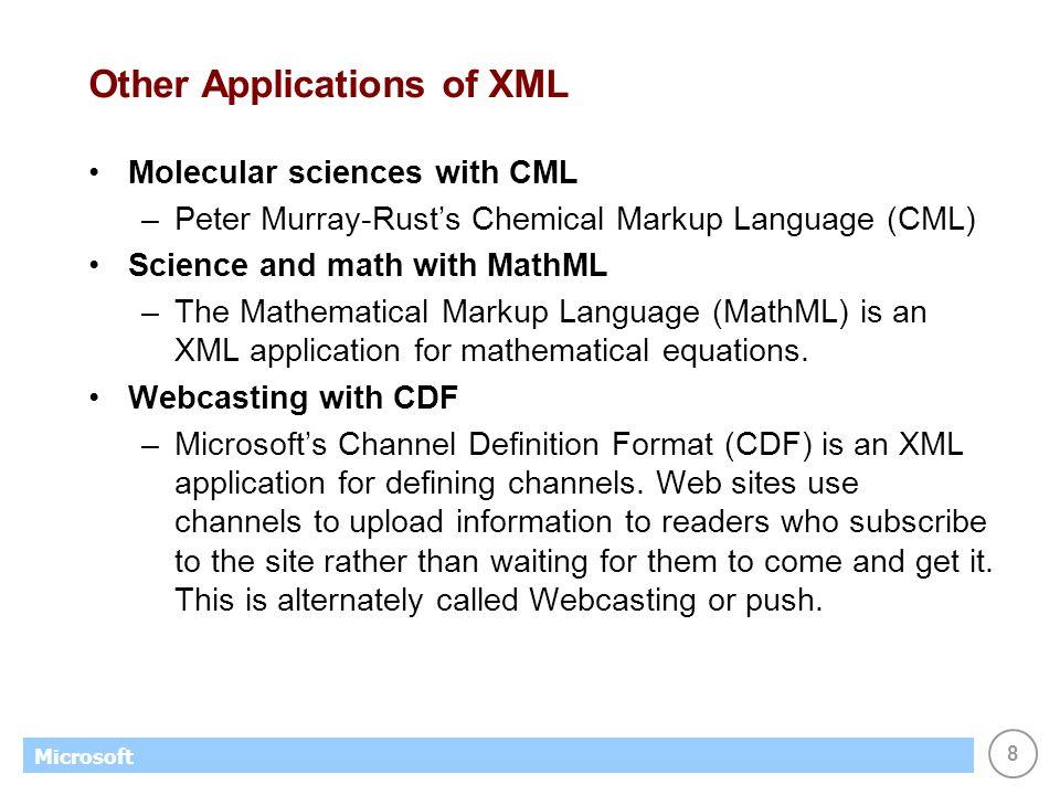 XML. 2 Microsoft The Extensibl...