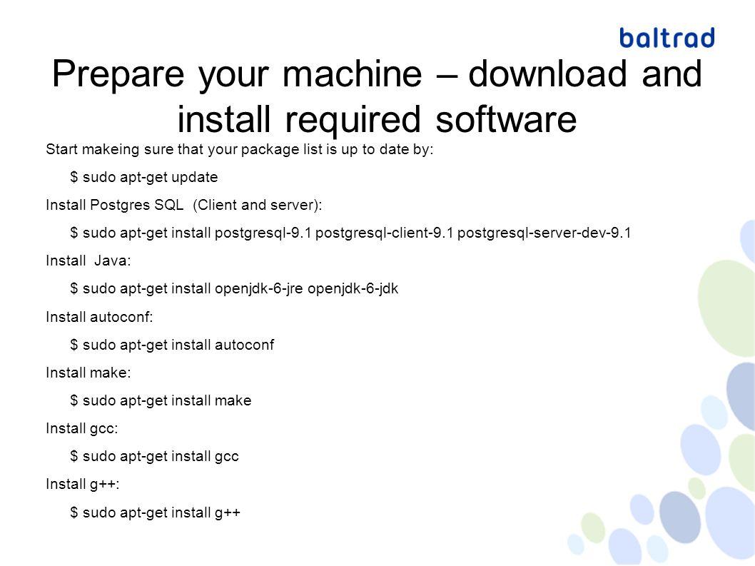 baltrad node installation for beginners On Ubuntu Jesper