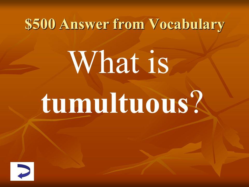 what is tumultuous