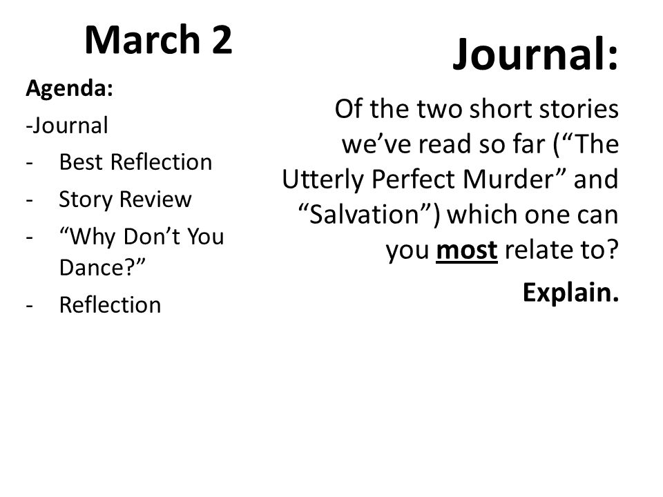the utterly perfect murder short story