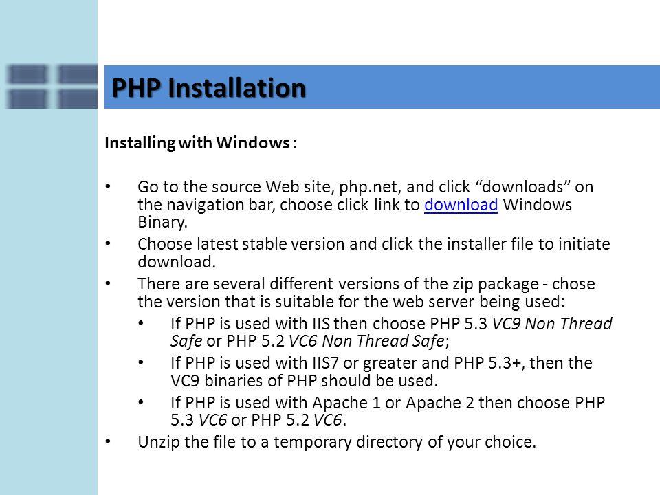 apache php module windows download