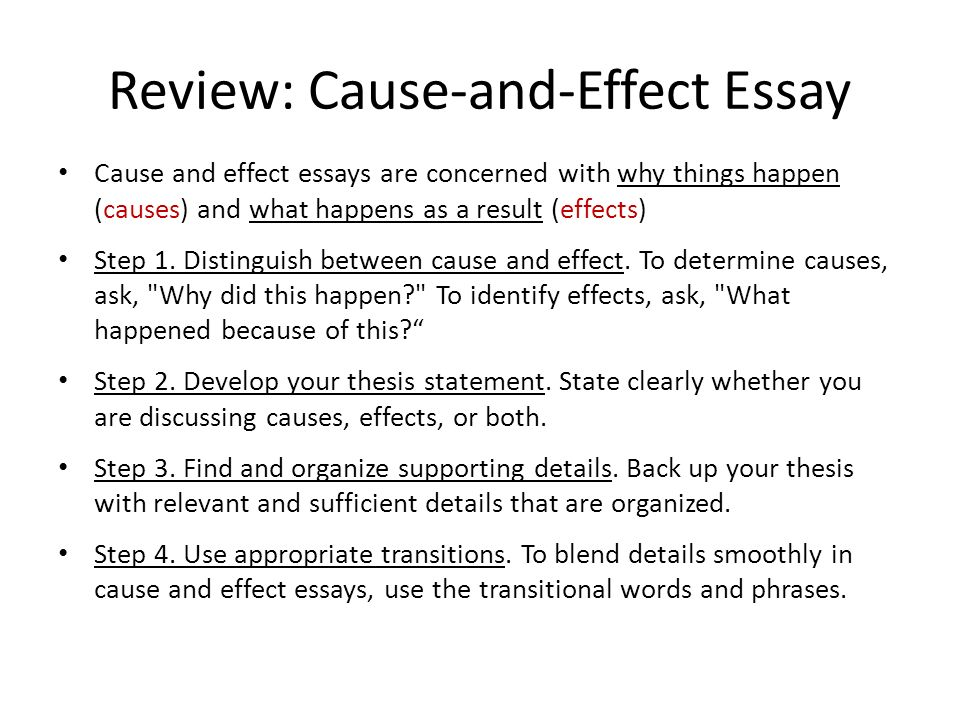 "cause and effect essay thesis statement Transition paragraph in cause and effect essay discover 40 great cause and effect essay topics professional recommendation: cause and effect essay examples ""gum makes noise in the classroom it is a distraction for both teacher and students teachers do now allow students to."