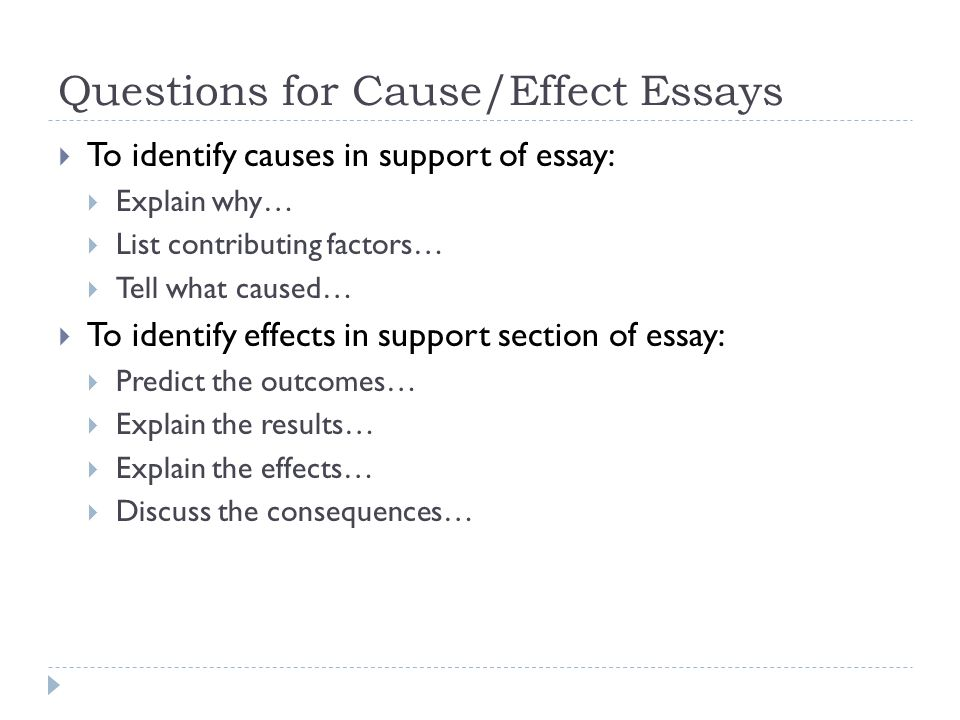 cause and effect speech