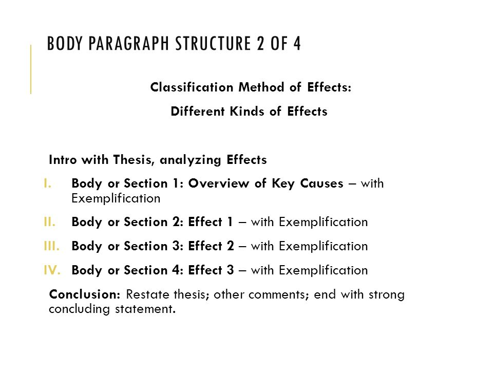 cause and effect paragraph structure